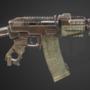 Apocalyptic AK pistol (fictional)