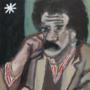 Kurt Vonnegut Sponge Portrait