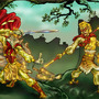 Wukong VS King Septimous Fox by BlackUniGryphon