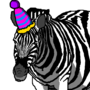 Zebra with a Party Hat by TheNotObnoxious