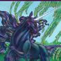 Black Unicorn For Ishaway by BlackUniGryphon