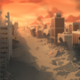 City Destruction - Background Art by zeedox