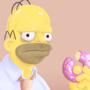 Grumpy Homer by Fwiller