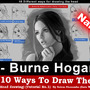 """Top 10 ways to draw the head [3- Burne Hogarth] """"Narrated"""""""