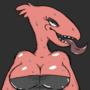 Lusty Busty Monster lady by RoostahFari