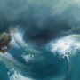 stormy seas by RoseredTiger