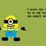 Funny Minion haha by MCBallyhoo