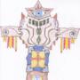 Art #61 -- All-seeing Tassles Totem.