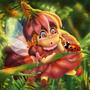Little Pixie And The LadyBug by jiasenART
