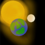 Sun Earth and Moon by P1gs99