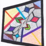 Art #63 -- Glass Stained Abstract Pane.