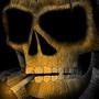 the Smoking Skull by BucketDraws