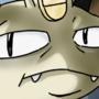 Sulking Meowth by FlumpyTripod