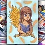 Feathery - Copic Marker Illustration by ScribbleFix