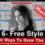 Top 10 ways to draw the head (Free Style) Narrated by rainwalker007