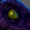 Female Velociraptor Digital Painting (Jurassic Park Fan-Art)