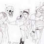 Billy Mandy & Grim by SmokeryDots