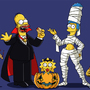 Simpson's Halloween Outfits by C-Rocket1