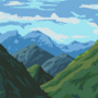 Pixel Mountains by MarcCobley