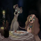 Lady and the Tramp in Tim Burton style