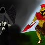 Thanatos VS Ares by DarkSerpentGD