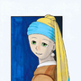 Girl with a Pearl Earring a la Manga