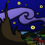 Starry Night- Van Gogh x Western Animation Style- COTM June 2017 DWJ by Mnbyars