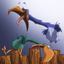 Birds Gone Wild Sketch 3 by Pewilu