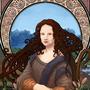 Mona Lisa/Art Nouveau by Djoresh