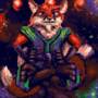 (pixel animation) the fox in our stars by bimshwel