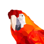 geometric parrot by EvelineV