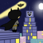 Batman powerpuff style by CartoonCaser