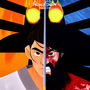 Samurai Jack but there's a song every 3 minutes that makes you cry/laugh/dance/etc