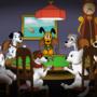 Disney Dogs Playing Poker