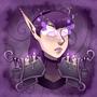 Shadow Priest Portrait by thelichwitch