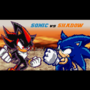 Sonic vs Shadow by tornade786