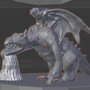 Dragon sculpt by Jdfantasy