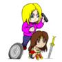 Grace brushes Wonder Woman's hair by eMokid64
