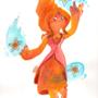Flame Princess Watercolor by maruki