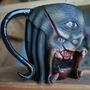 Predator Ceramic Mug by Dethskulpt by DETHSKULPT