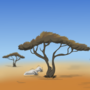 African Savannah animation background