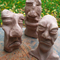 3 Clay Heads