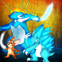 Jerry Mouse, Alolan Sandslash, and Samurott by BlueySerperior