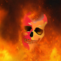 Flaming Skull by AllinatorBEATS