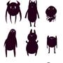 Cute monstah sticker set #2 by Taitanator