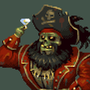Draw this again - Zombie Pirate LeChuck by JinnDEvil