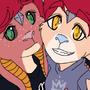 DragonBun Twins - Jamie & Maxie by Pegagamer