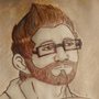 Josh with Coffee (Coffee Painting Portrait) by AniLover16