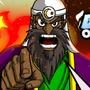 Muhammad and his mystical INFIDEL BEHEADER by kaxblastard