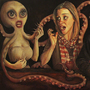 """""""The Waiting Room"""" (part 3) - oil on canvas 59"""" x 24"""" by Furious-Monkey"""